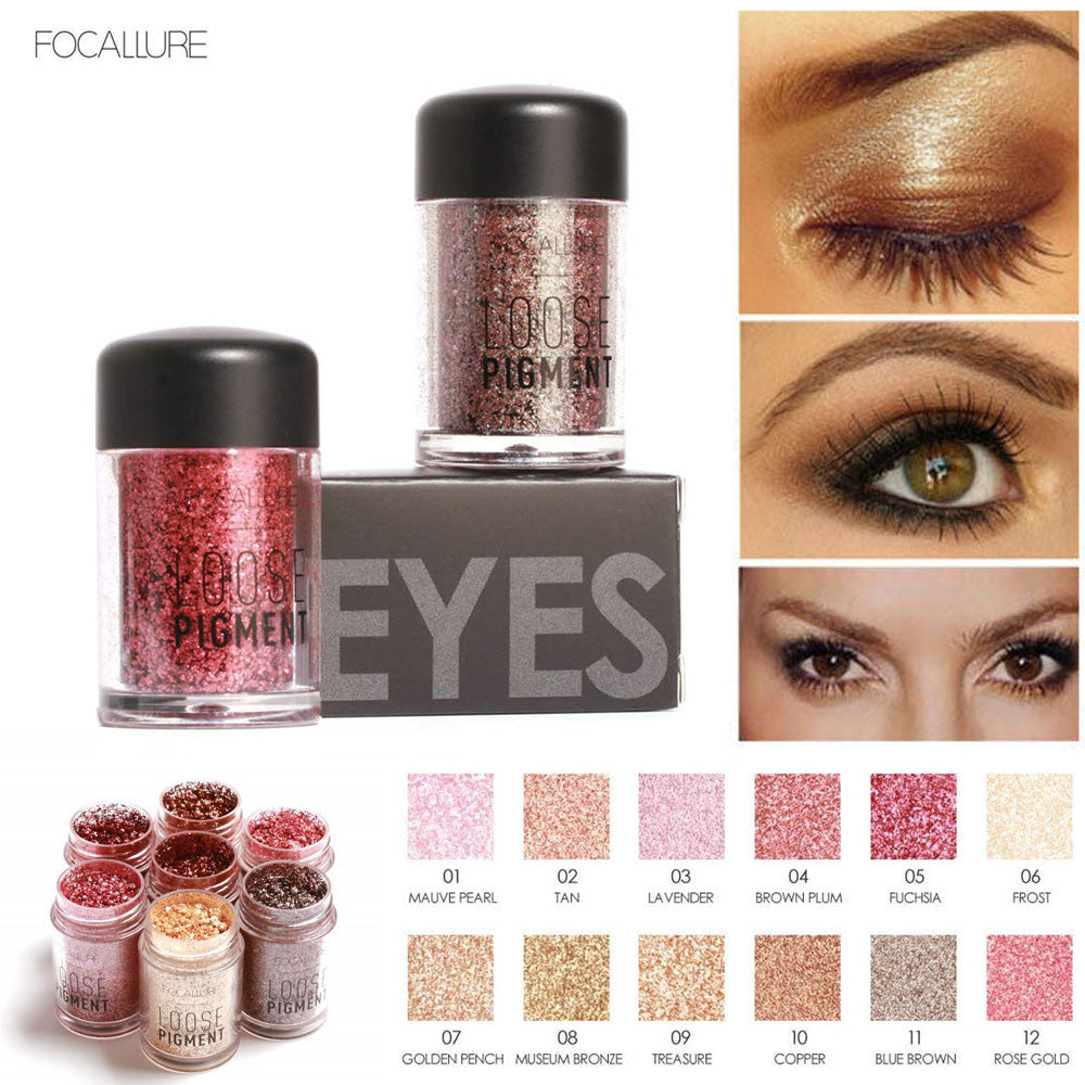 Shimmer Matte Eye Shadow in 12 Fashion Colors Makeup Pear Metallic Palette Light Eyeshadow Natural Cosmetics Set  #622