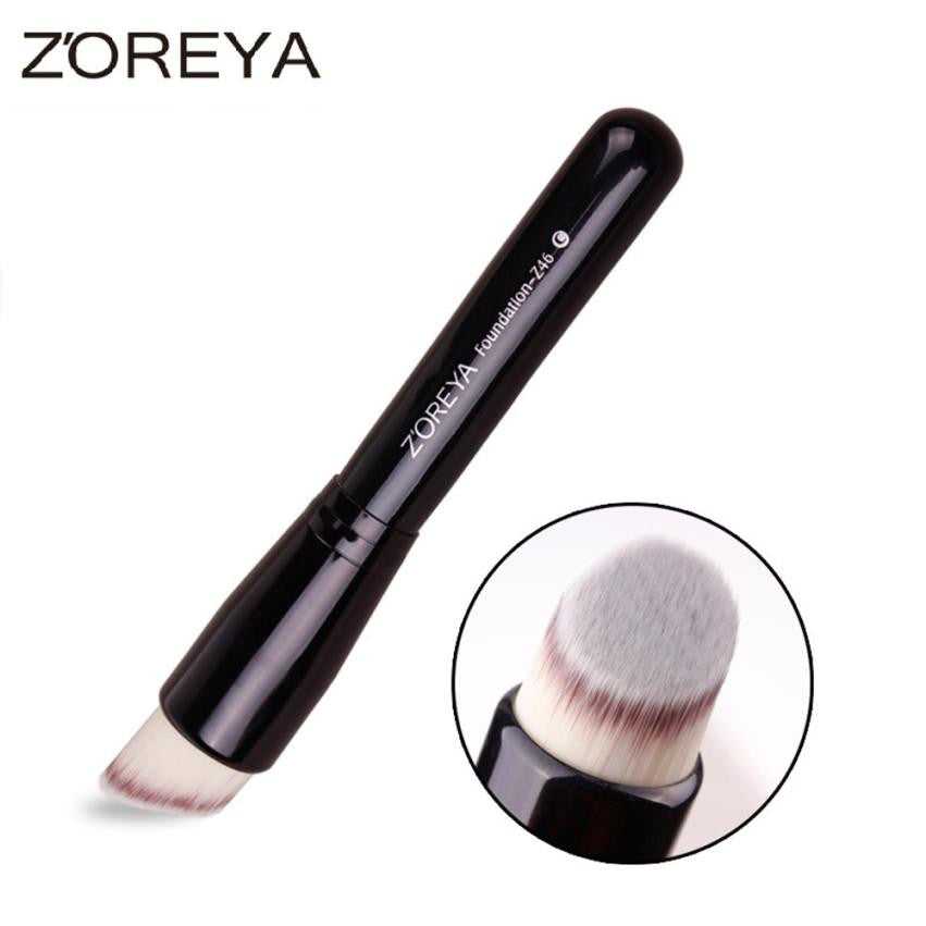 ZOREYA Brand 2017 New  Makeup Fan Conclear Face Powder Foundation Cosmetic Makeup Brush Makeup Tool  Fashion Design