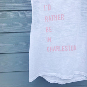 """I'd rather be in Charleston"" tank"