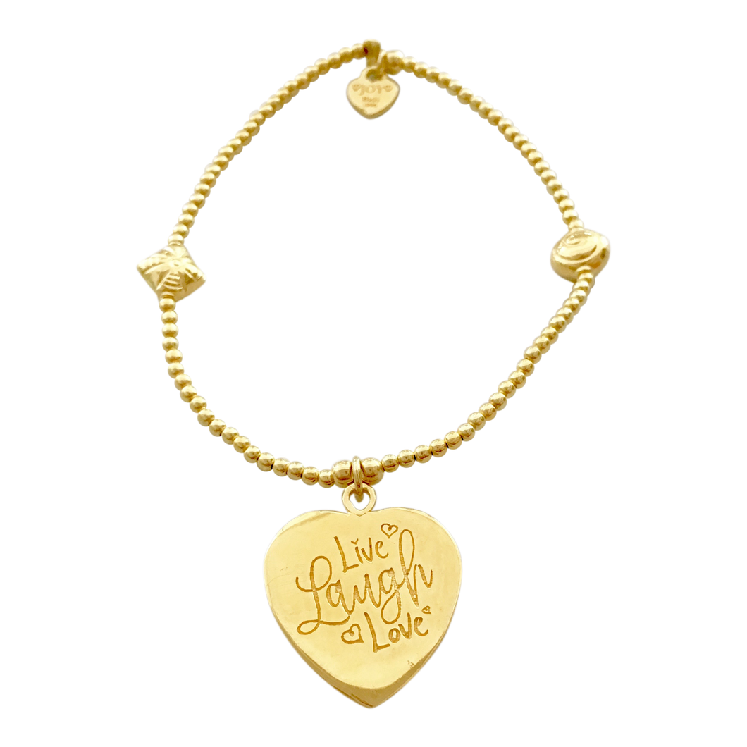 Bracelet Bamba Live Laugh Love Gold - Joy Jewellery Bali