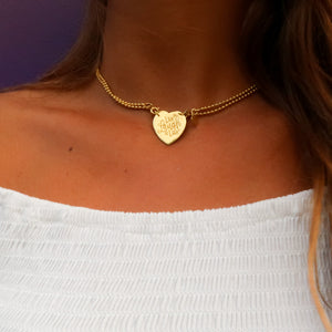 Necklace Sintra Live Laugh Love Gold