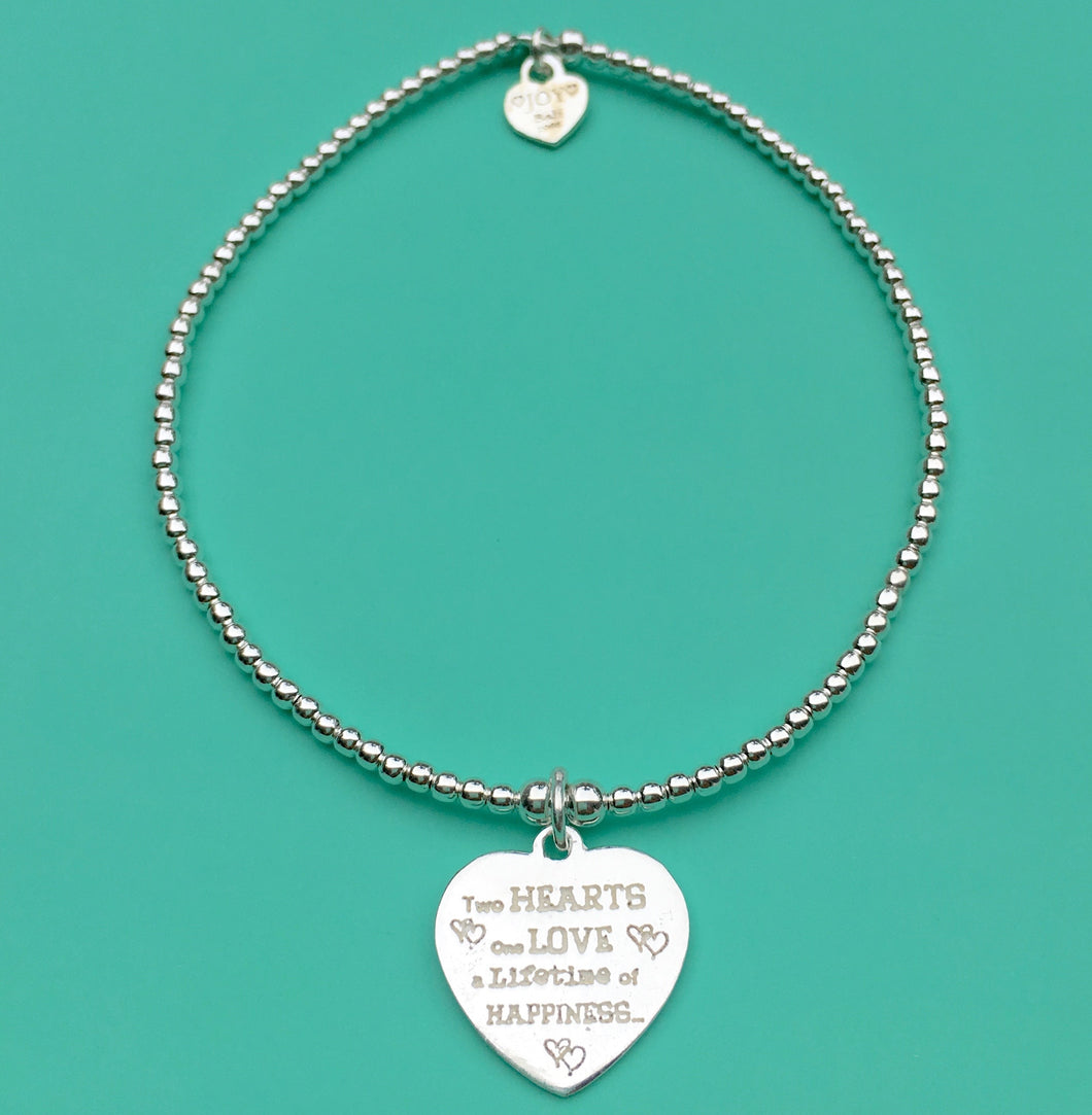 Bracelet tiny Wishes Two hearts - Joy Jewellery Bali