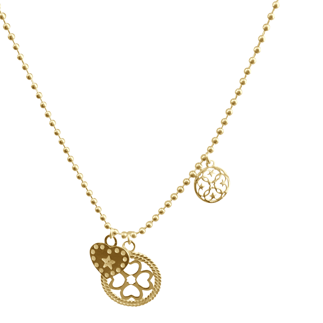 Necklace Jezebel Shamrock Gold - Joy Jewellery Bali