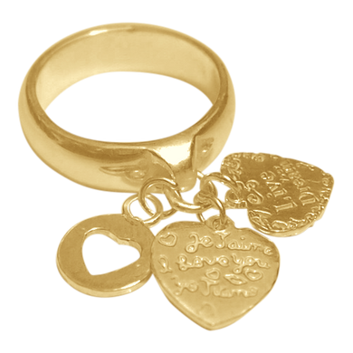 Ring Paris Live Your Dream Gold