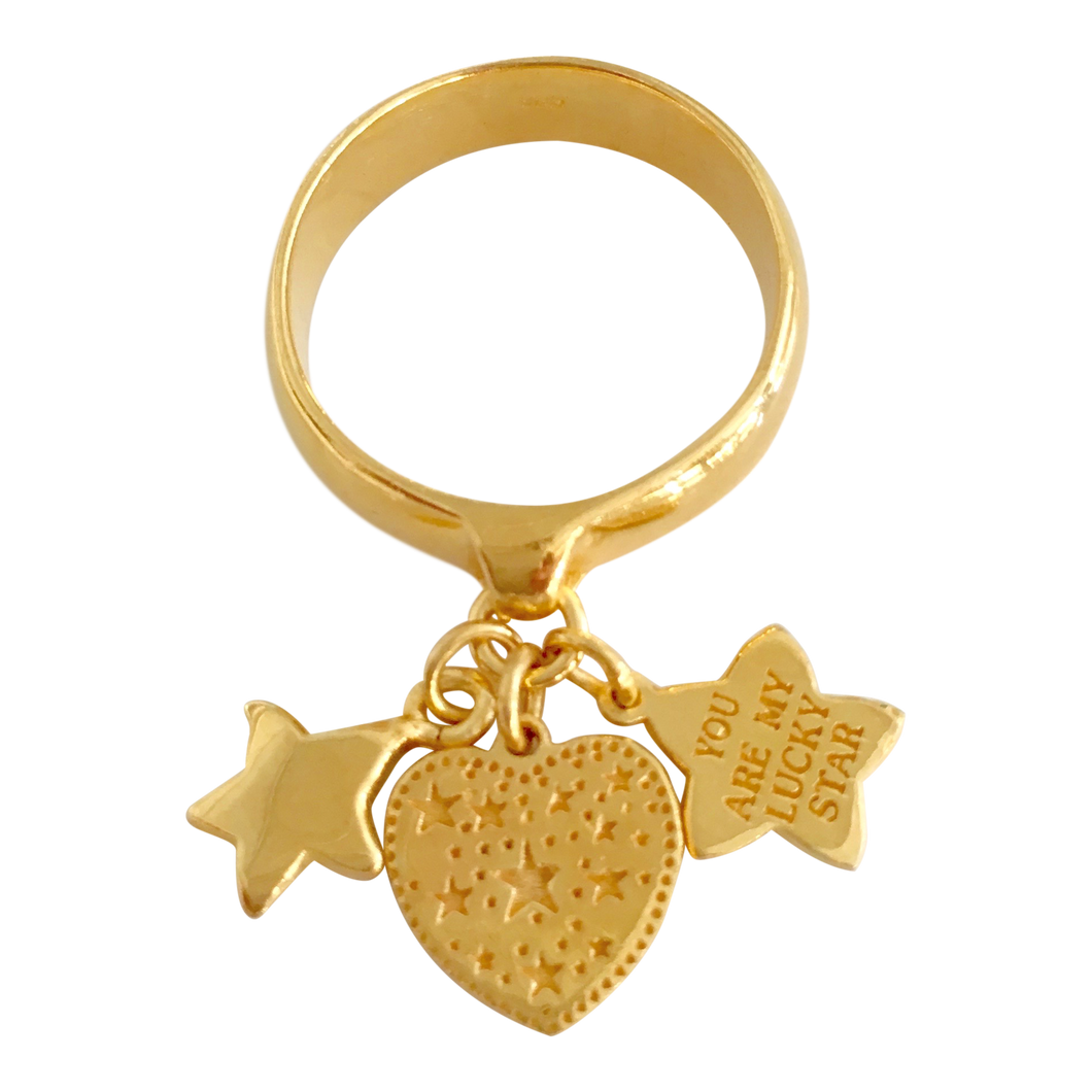 Ring Paris Lucky Star Gold - Joy Jewellery Bali