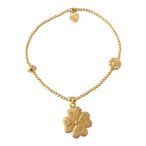 Bracelet Bamba Four Clover Gold - Joy Jewellery Bali