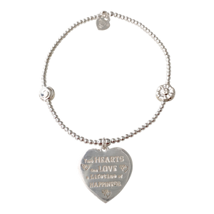 Bracelet Bamba two hearts - Joy Jewellery Bali