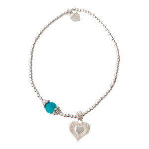 Bracelet Marlin Galaxy Heart Amazonite - Joy Jewellery Bali