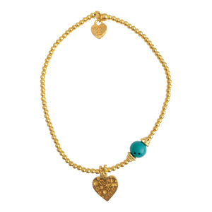 Bracelet Marlin Hello Sunshine Turquoise Gold - Joy Jewellery Bali