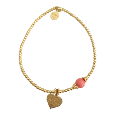 Bracelet Marlin Little Things Coral Gold - Joy Jewellery Bali