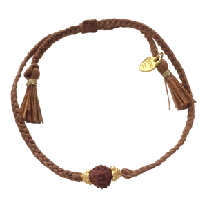Bracelet Rudraksha Brown Gold - Joy Jewellery Bali