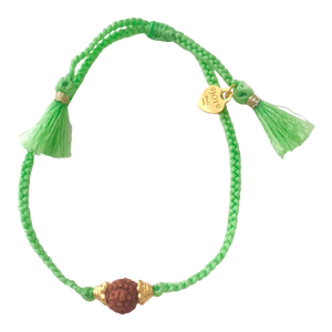 Bracelet Rudraksha Green Gold - Joy Jewellery Bali