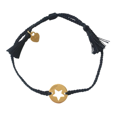 Bracelet Santa Lucia Star Black Gold - Joy Jewellery Bali