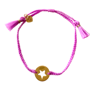 Bracelet Santa Lucia Star Soft Purple Gold - Joy Jewellery Bali