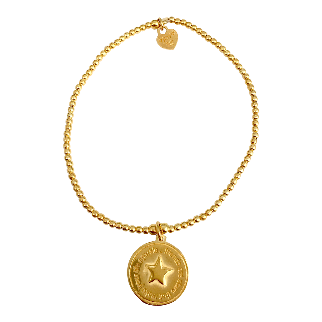 Bracelet Tiny Wishes Friends Gold - Joy Jewellery Bali