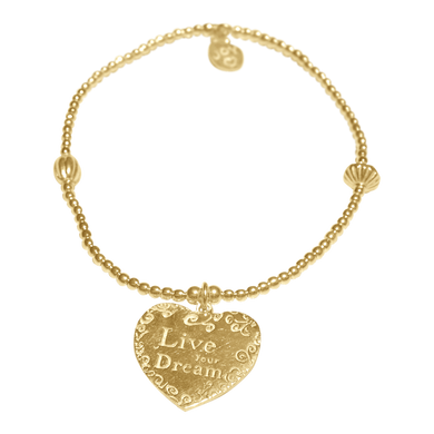Bracelet Bamba Live Your Dream Gold - Joy Jewellery Bali
