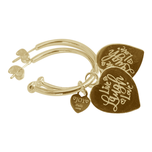 Earring Pipa Live Laugh Love Gold - Joy Jewellery Bali