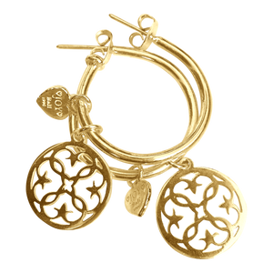 Earring Pipa Granada Gold - Joy Jewellery Bali