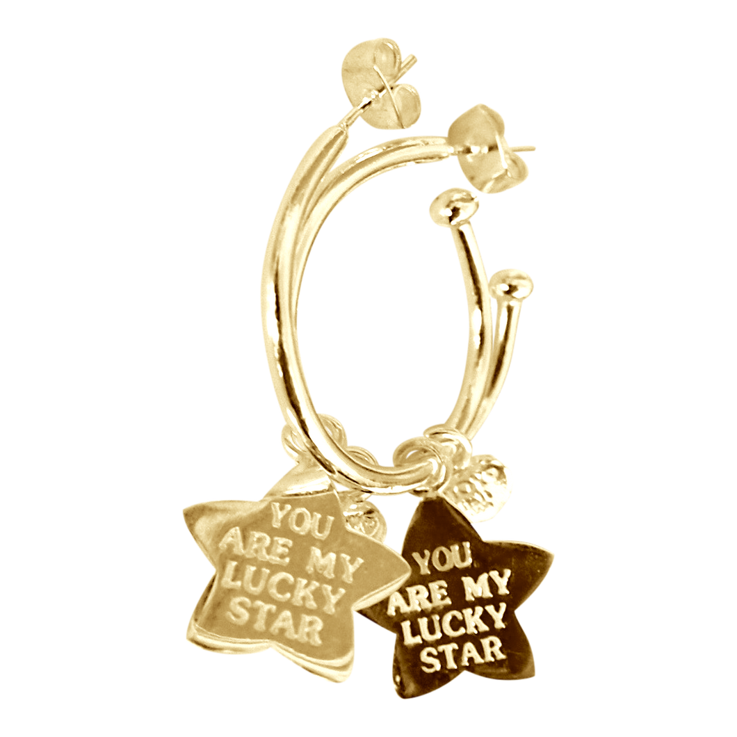 Earring Pipa Lucky Star Gold - Joy Jewellery Bali