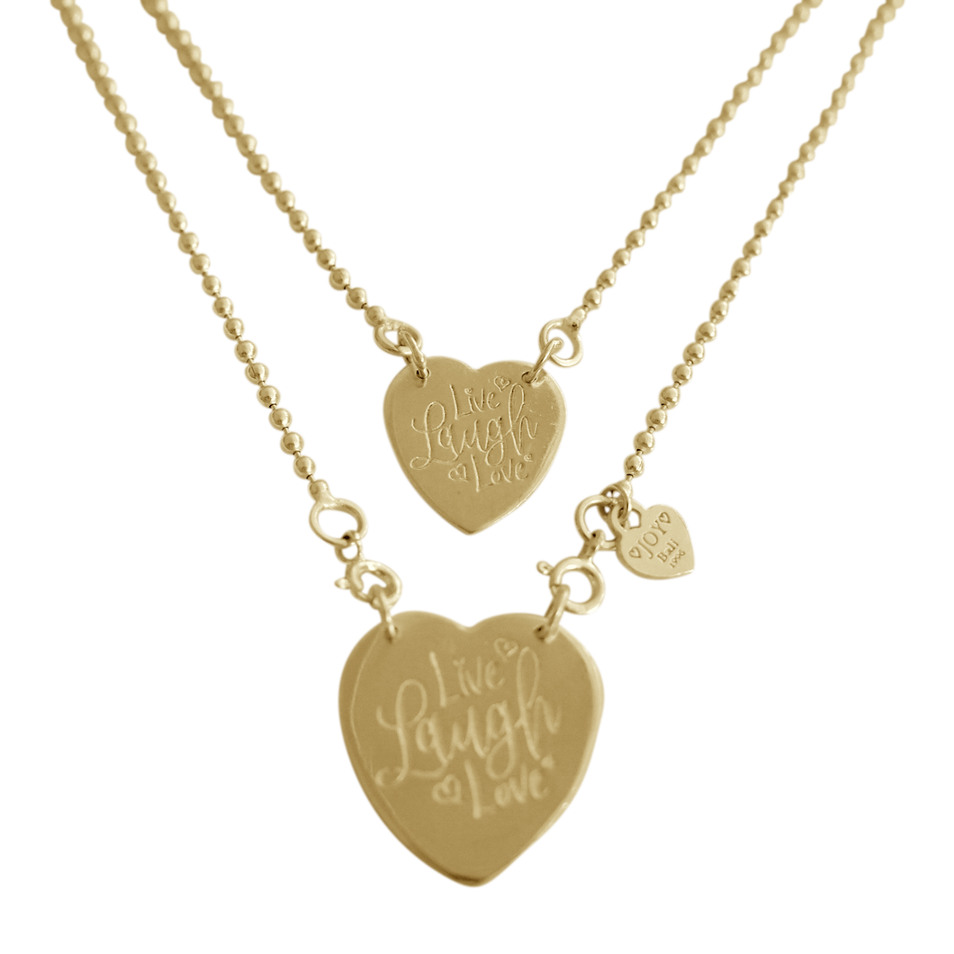 Necklace Sintra Live Laugh Love Gold - Joy Jewellery Bali
