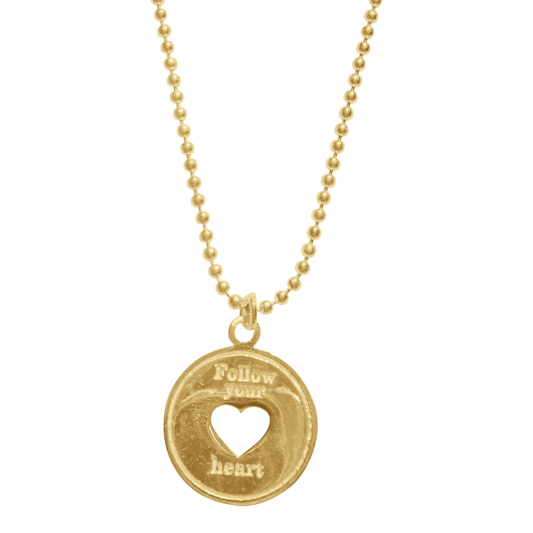 Necklace Indy Follow Your Heart Gold - Joy Jewellery Bali