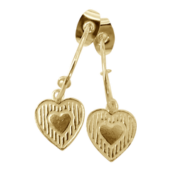 Earring Bonita Corazon Gold