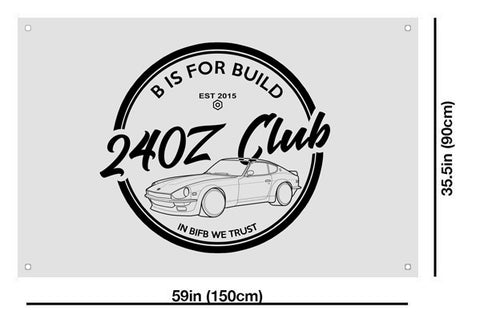 BIFB 240Z Club Shop Flag