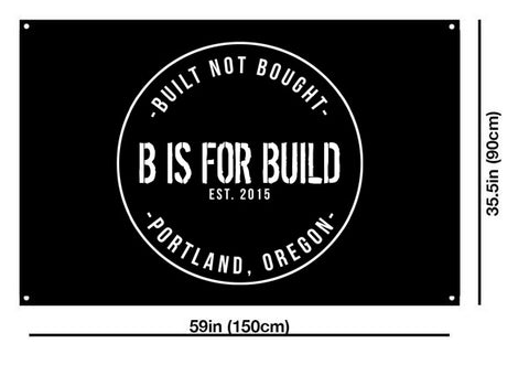 B is for Build Shop Flag