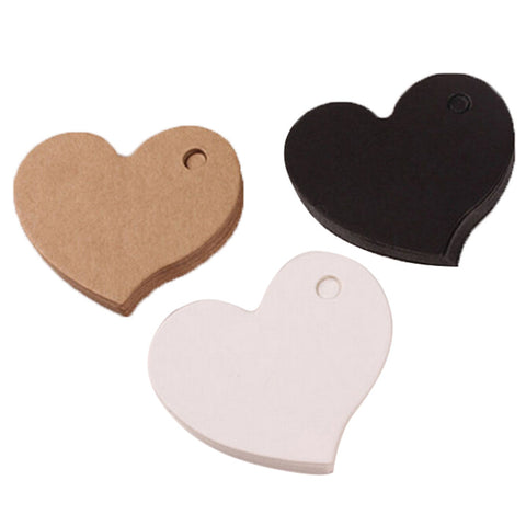 50 4.5X4cm Heart Shaped Cards