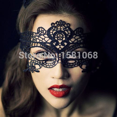 Black Sexy Ladies Lace Mask For Halloween
