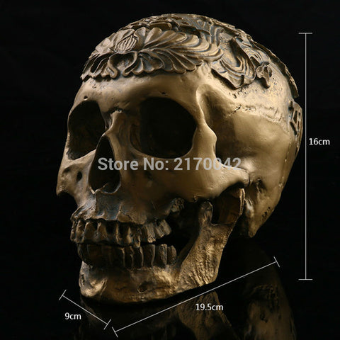 Resin Egyptian Skull  Life Size 1:1