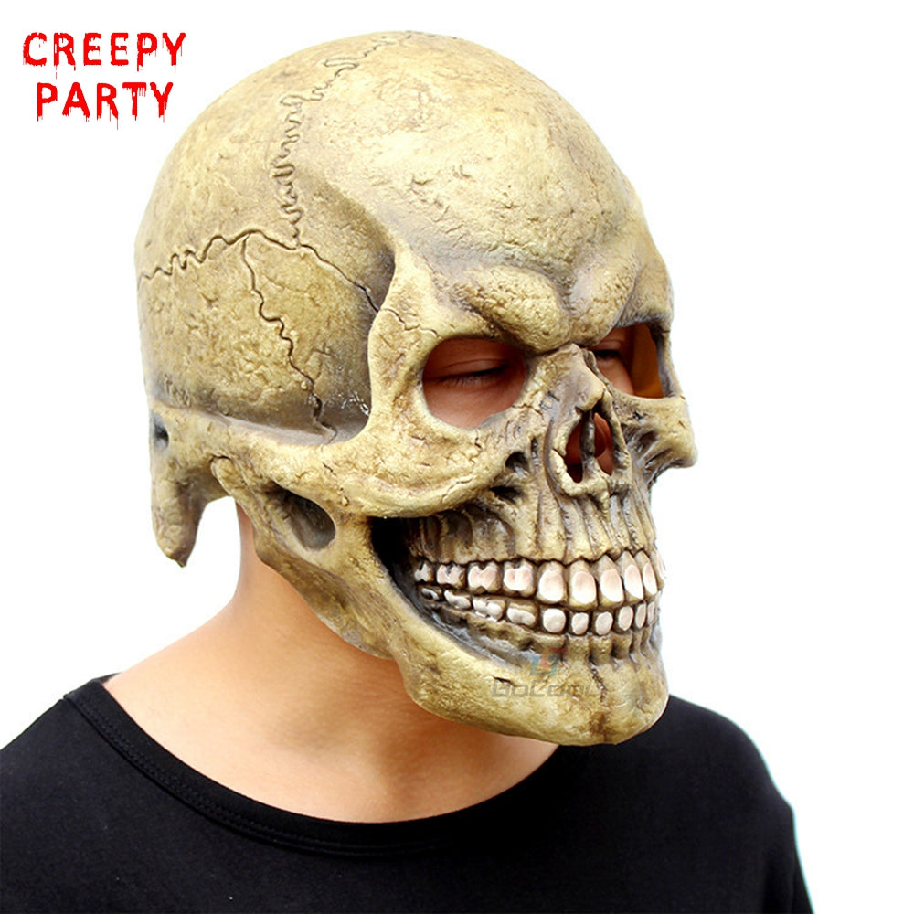 scary skull mask full head realistic halloween mask 2 choices