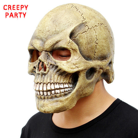 Scary Skull Mask Full Head Realistic Halloween Mask 2 Choices.