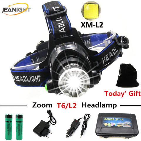 LED Headlamp Cree XML L2 or T6  18650 Lithium Battery
