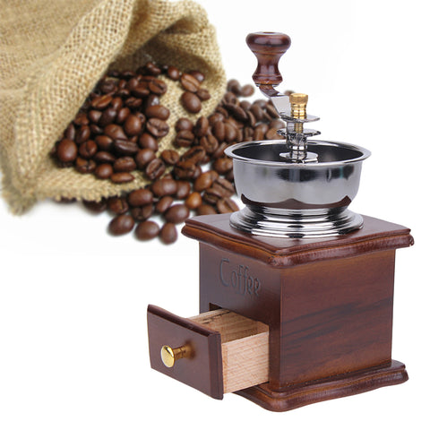 Antique Style Hand Crank Coffee Grinder