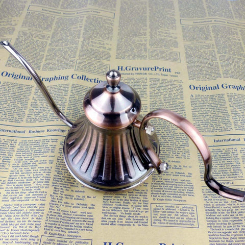420 ml  European Style Gooseneck Stainless Steel Tea or Coffee Pot