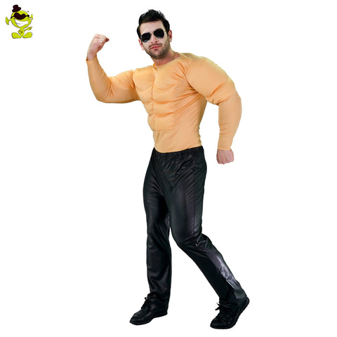 2017 New arrival muscle suit men muscle top costumes for Adult anime cosplay Halloween funny strong man Role Play party costumes