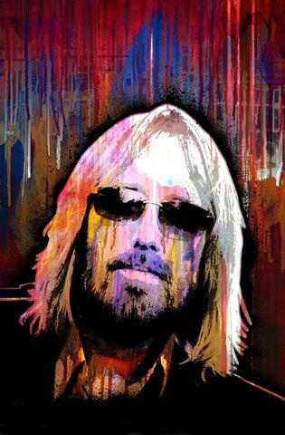 Tom Petty Oil On Canvas Painting