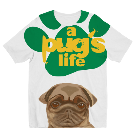 A Pug's Life Kids Sublimation TShirt
