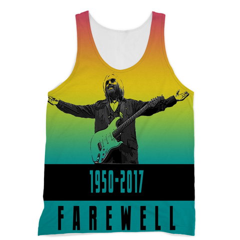 Farewell Tom Petty Sublimation Vest