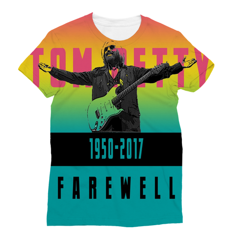 Farewell Tom Petty Sublimation T-Shirt