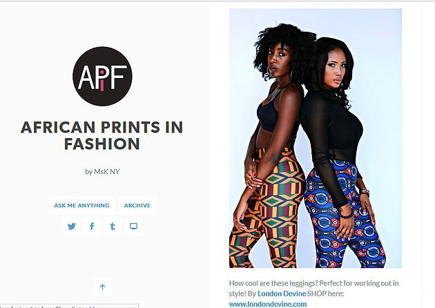 How Cool Are these Leggings with African Prints in Fashion