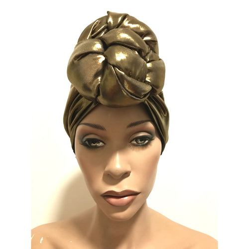 Hollywood Satin Lined Pre sewn Knot Head Wrap / Turban