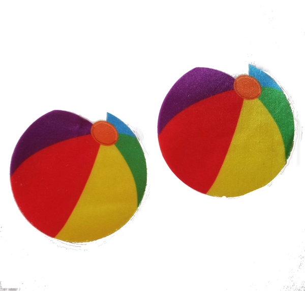 Embellished Beach Balls Sheer Swim Pasties