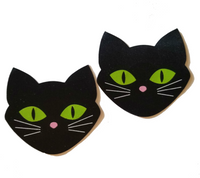 Embellished Black Cat Pasties