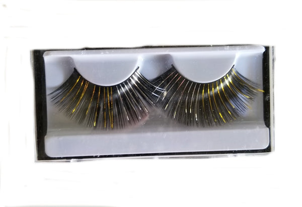 Sheer Swim Black Gold False Eyelashes Long Thick Drag Queen Falsies Eye Lashes Extensions for Costume Cosplay Stage Makeup