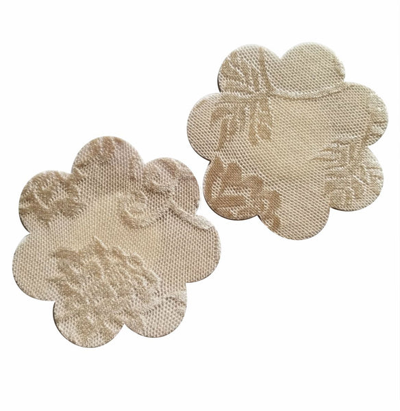 Nude or Black Color Lace Flower Pasties