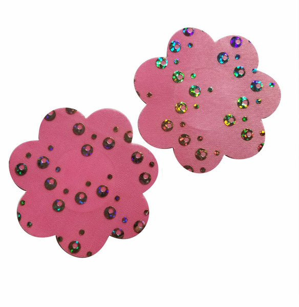 Flower Pink Pasties Sparkly