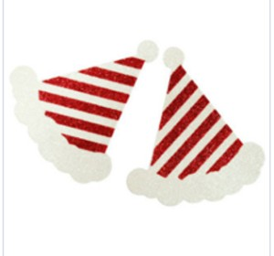 Stripped Christmas Hats Pasties
