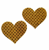 Pasties - 7 Colors Embellished Heart Glitter